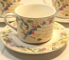 American Atelier Morning Song Birds Tea Cup and Saucer 2 Piece Set