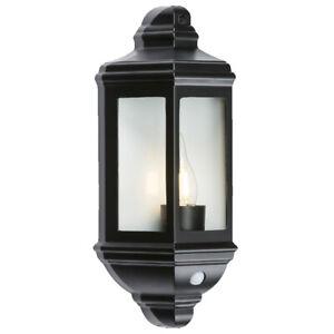 IP33 Wall Mounted Half Lantern Coach Outdoor Garden Sconce Facade Light E27 Lamp