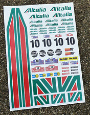 RC Alitalia Autocollants Mardave Kyosho Tamiya HPI