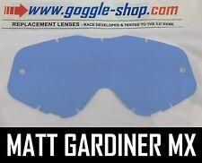 Goggle-shop Lente Para Spy Targa 3 / Whip / Klutch Motocross Gafas tinte azul
