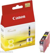 1 x Canon ORIGINAL OEM CLI-8Y, CLI8Y Giallo CARTUCCIA A GETTO D'INCHIOSTRO