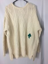 NWT Aran Crafts Sweater size XL Irish Merino Wool Shamrock St Patricks Day