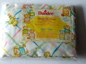 Dundee Vintage Shirt Tales Crib Sheet Baby NOS