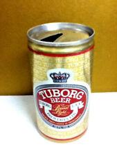 "Tuborg beer brewed light vintage aluminum pull tab beer can 12 oz. 4.75"" AJ3"