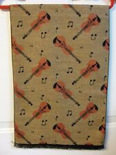 Violin with Music Notes Scarf