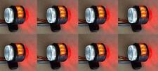 8x 12V SIDE AMBER RED WHITE MARKER LIGHTS 11 SMD LEDs TRUCK VAN TRAILER CHASSIS