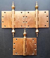 "Vintage 5""x7"" Kansas State House Bronze Steeple Tip Finial Exterior Door Hinges"