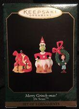 Hallmark: MERRY GRINCH-MAS - Dr Seuss - Miniature (set of 3 ornaments) - 1999