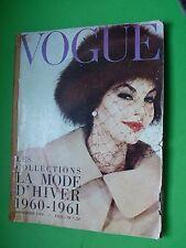 VOGUE Paris Septembre Collections Hiver 1960-61 Collezioni Winter Jacques Griffe