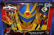 "Power Rangers Mystic Force SOLARIS KNIGHT Training Set New 9"" Mask Morpher sword"