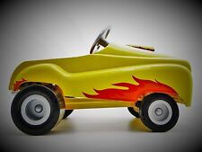 Pedal Car Rare 1940s Ford Vintage Race Hot Rod w/ Flames Metal Midget Model