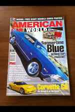 Voiture américaine World Magazine Oct 05 Corvette C6, Ford Pop, Plymouth Valiant, Chevy
