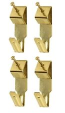 Picture Hook & Pin Set 4 x Small Picture Hooks & Pins / Nails Electro Brassed