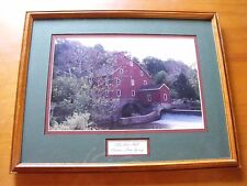 "MATTED & FRAMED ""Old Red Mill"" Clinton New Jersey from Olde Clinton Falls"