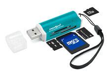 Kartenlesegerät speicherkartenleser Windovs 10 Kompatiebel für SD Micro SD Blau