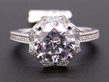 a3a6d831b Scott Kay 14k White Gold Round Diamond Halo Engagement Promise Ring M2035