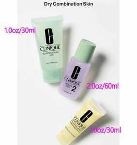 New Clinique 3-Steps Travel Size Set for Dry Combination Skin in set Type 2