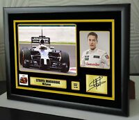 """Stoffel Vandoorne F1 McLaren Framed Canvas Print Signed.""""Great Gift"""""""