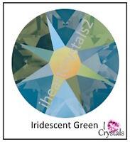 Iridescent Green 16ss 4mm 144 pieces Swarovski Crystal Flatback Rhinestones 2058