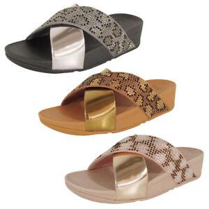 Fitflop Womens Lulu Leopard Crystal Sandal Shoes