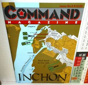 BOARD WAR GAME+Mag Command #9 Korea - Inchon: MacArthur's Gambit op 1991 UNP