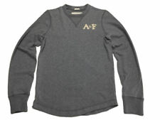 Abercrombie & Fitch Long Sleeve Shirt S Muscle Gray Crew A&F Mens 8094