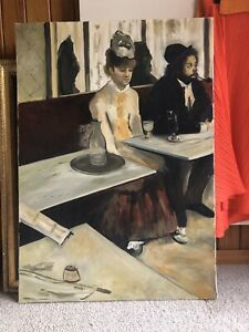 L'absinthe Degas Gallery quality reproduction oil on canvas Large format