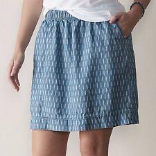 Sonoma Goods for Life Denim Blue Print Pull-on Skirt Womans Plus 1X NEW $38