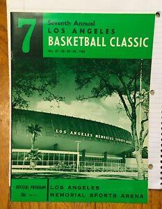 1965 LOS ANGELES BASKETBALL CLASSIC  SOUVENIR PROGRAM 7th ANNUAL DEC 27-30 1965