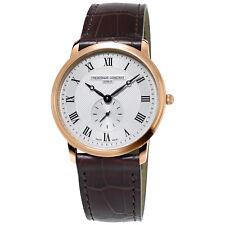 Frédérique Constant Slimline Mens FC-235M4S4 Quartz Rose Gold Case 37mm Watch