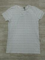 New Rag & Bone Base Tee White Print Short Sleeve Color: White Size: XS -3