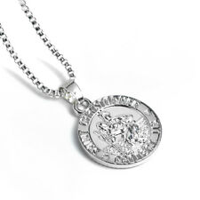 """Sterling Silver Saint St Christopher Necklace 18"""" OPTIONS Style"""