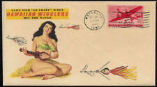 1949 Hawaiian Wigglers & Sexy Lady Featured on Collector's Envelope *OP152