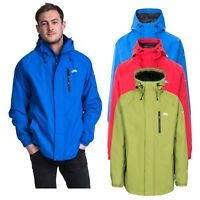 Trespass Pearson Mens Waterproof Hooded Jacket Hiking Breathable Raincoat