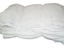 50 WHITE SHOP TOWELS RAGS INDUSTRIAL CLEANING AVERAGE 14X14 LARGE BRAND NEW