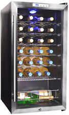 Compressor Wine Cooler NewAir Digital Electronic Stainless Steel Black 27-Bottle