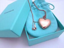 "Tiffany & Co. Hearts Pendant Rubedo Metal Large 24"" Long w/ Gift Bag Note Card"