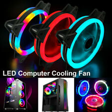 1-4 Pack RGB LED Quiet Computer Case PC Cooling Fan Light for Computer Cooler