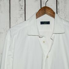 TED BAKER London Archive Men's French Cuff Dress Shirt White Textured Sz 17