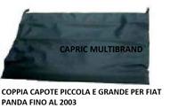 Coppia Capote Piccola e Grande Cappotta Cappottina Pvc Fiat Panda fino al 2003