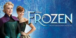 2 TICKETS FROZEN*THE MUSICAL MELBOURNE HER MAJESTY THEATRE SAT 26 JUNE 7PM FRONT