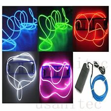 10 x 3ft Neon Light Glow EL Wire +  Battery pack controller
