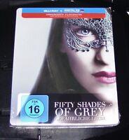 Cincuenta Sombras Of Gris Gefährliche Liebe Limitada Steelbook Blu Ray Neu & Ovp