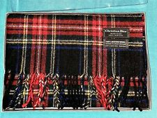 New Vintage Christian Dior Monsieur 100% Merino Wool Scarf Woven In Great Britia