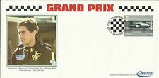 Ayrton senna grand prix officiel chaucer fdc graham hill timbre silverstone pcm