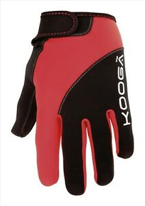Kooga Red Mini/Junior Rugby Full/Long Fingered Silicon Grip Gloves/Mitts/Mits