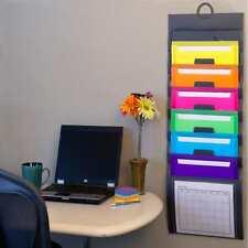 6 Pockets Wall Desk Organizer Office Letter File Paper Folder Document Holder