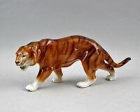 9942393 Porzellan Figur Tiger Wagner&Apel 28x12cm
