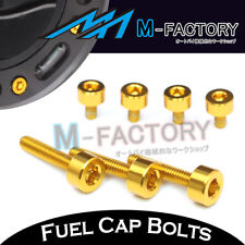 Gold CNC Billet Fuel Cap Bolts Honda CBR600RR 2003 2004 2005 2006