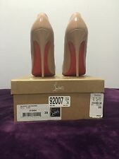HARD TO FIND! Woman's Size 39 Christian Louboutin Nude So Kates